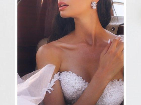 na obrazku suknia ślubna bez ramiączek